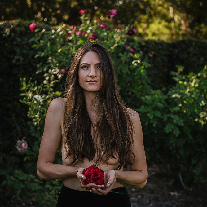 Amanda with rose